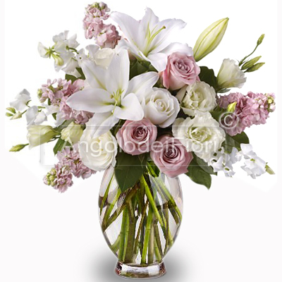 Bouquet di Lilium e Rose