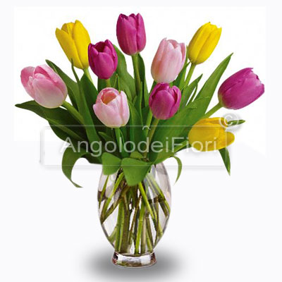 Mixed Bouquet of Tulips