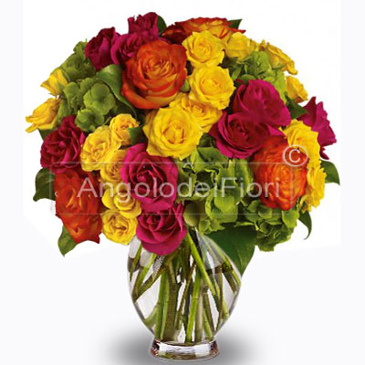 Bouquet of Roses Mixed Colors
