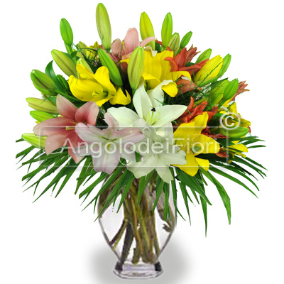 Lilium Bouquet of Mixed Colors