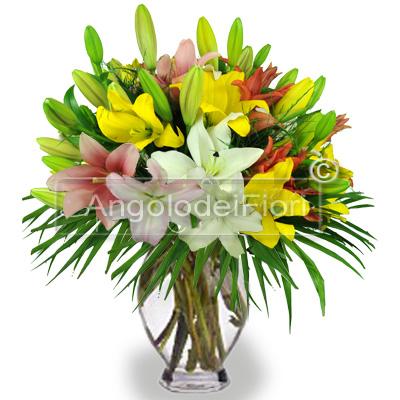Bouquet di Lilium Colori Misti