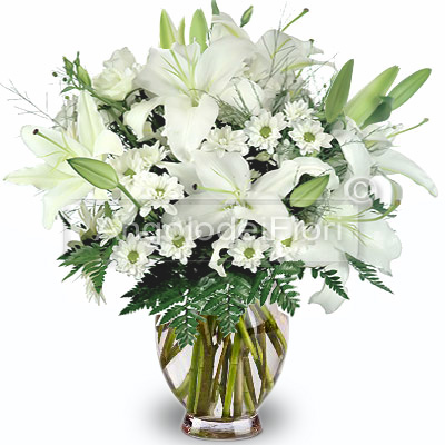 Bouquet of Lilium and White Daisies