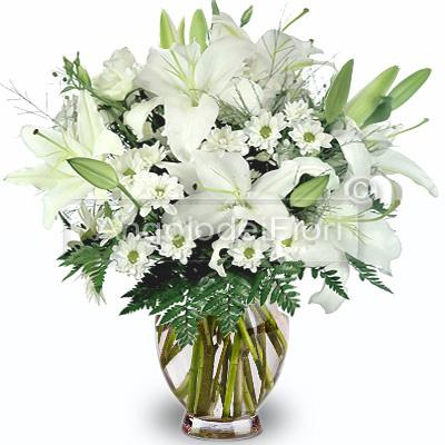 Bouquet di Lilium e Margherite Bianche