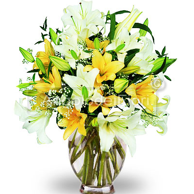 Lilium bouquet of different colors