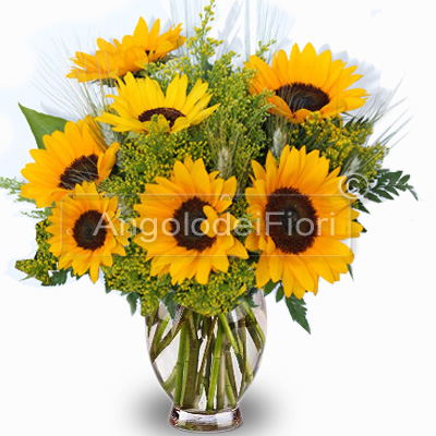 Bouquet of Sunflowers and Ears
