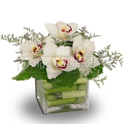 Orchidea in vaso di vetro