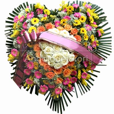 Pillow funeral Shaped Heart