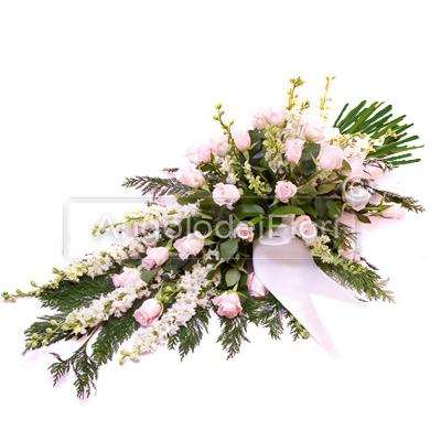 Mazzo Funebre con fiori rosa