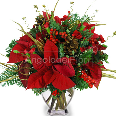 Bouquet with flowers for  Christmas