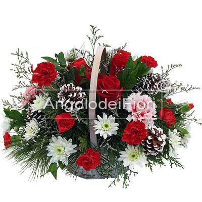 Christmas Floral Basket