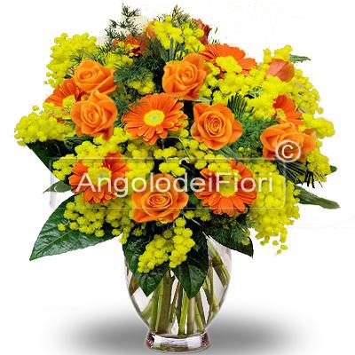 Mimosa e Fiori Arancioni