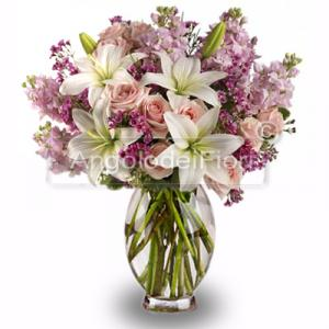 Bouquet of flowers Pink and White Lilum