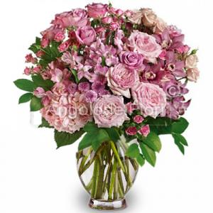 Mixed Rose Bouquet of Flowers