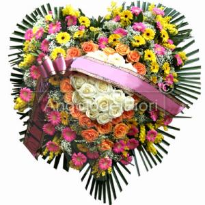 Pillow funeral Shaped Heart