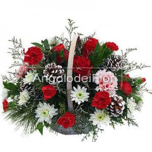Christmas Floral Basket