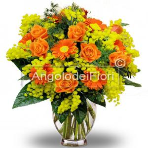 Mimosa and Orange Flowers