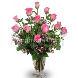 Twelve Rose Pink