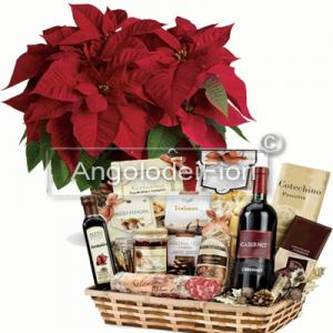 Magnum basket includes a Christmas star and typical products