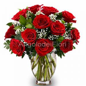 Bouquet di Rose Rosse per Laurea