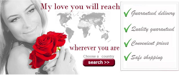 Your flowers worldwide with a click